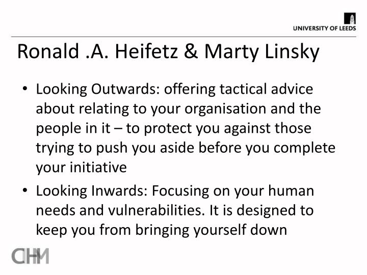 Ronald .A. Heifetz & Marty Linsky