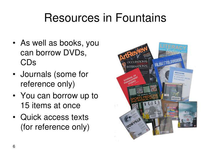 Resources in Fountains