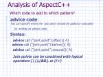analysis of aspectc which code to add to which pattern1