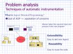 problem analysis techniques of automatic instrumentation1