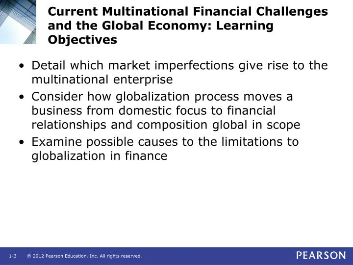 Current multinational financial challenges and the global economy learning objectives1