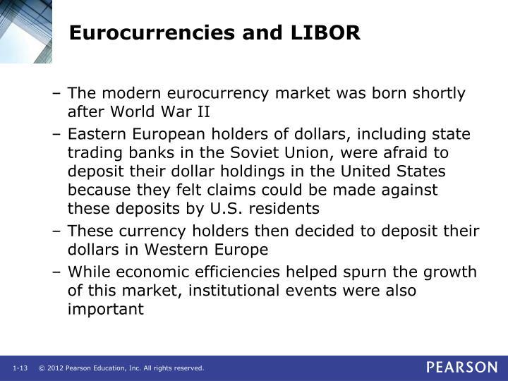 Eurocurrencies and LIBOR