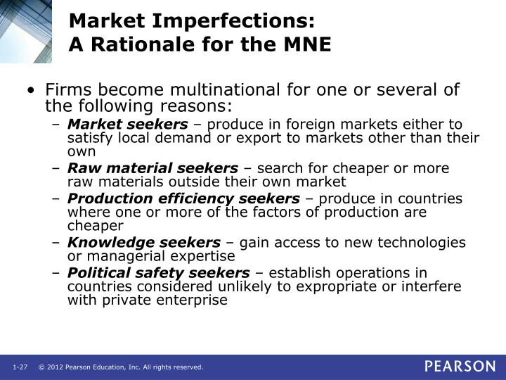 Market Imperfections: