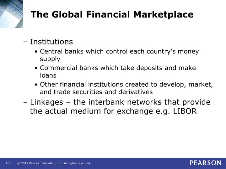 The Global Financial Marketplace