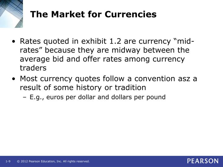 The Market for Currencies