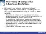 the theory of comparative advantage limitations