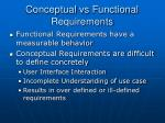 conceptual vs functional requirements