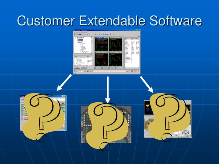 Customer Extendable Software