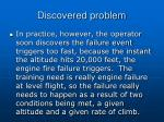 discovered problem