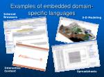 examples of embedded domain specific languages