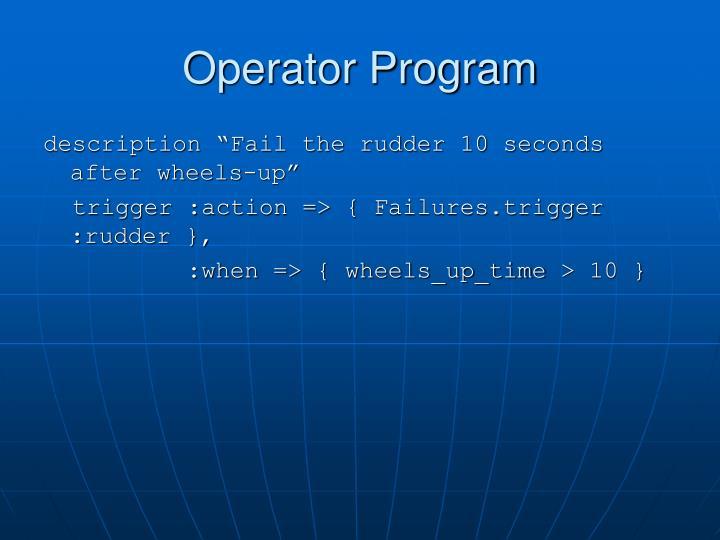 Operator Program