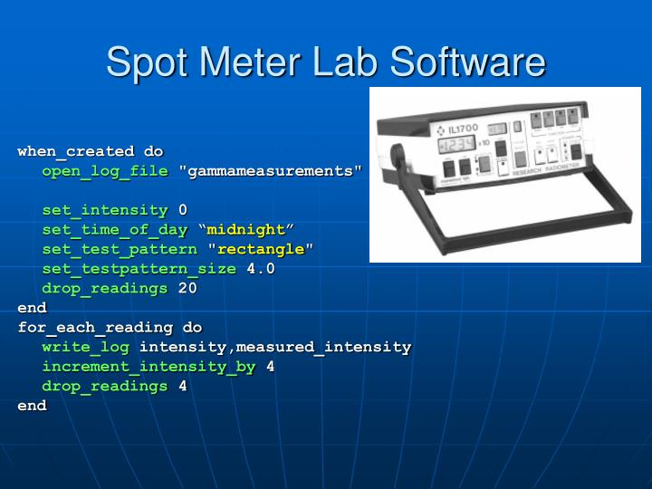 Spot Meter Lab Software