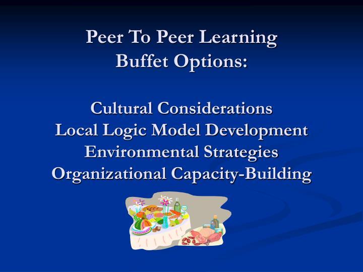 Peer To Peer Learning