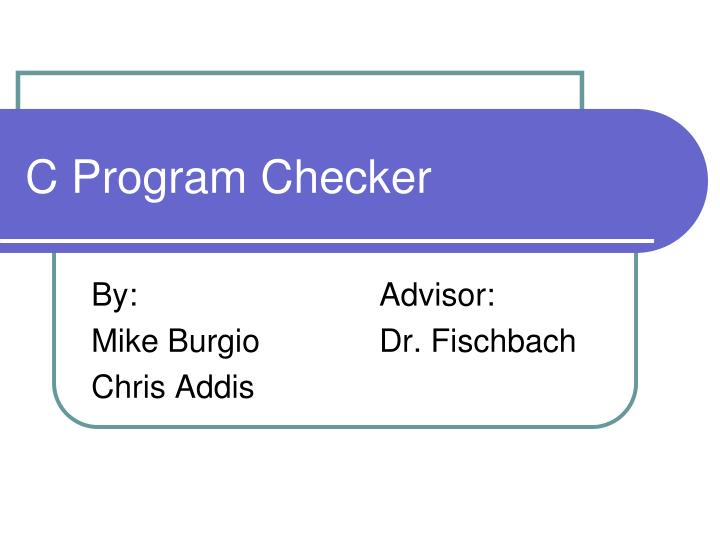C program checker