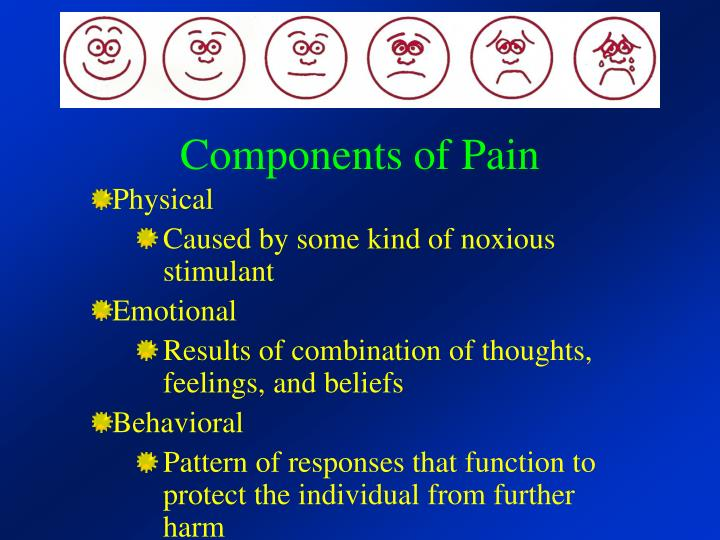 Components of Pain