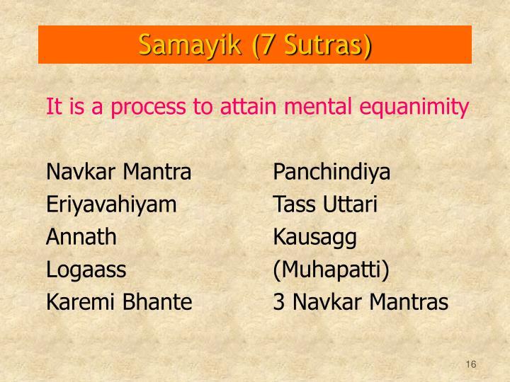 Samayik (7 Sutras)