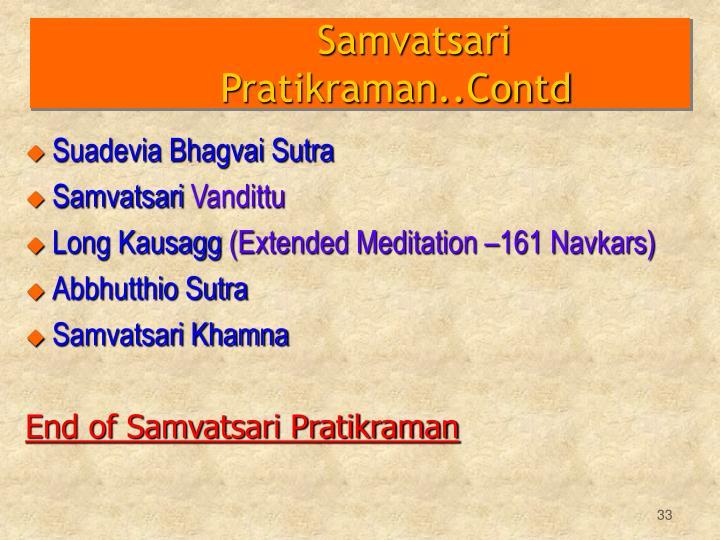 Samvatsari Pratikraman..Contd