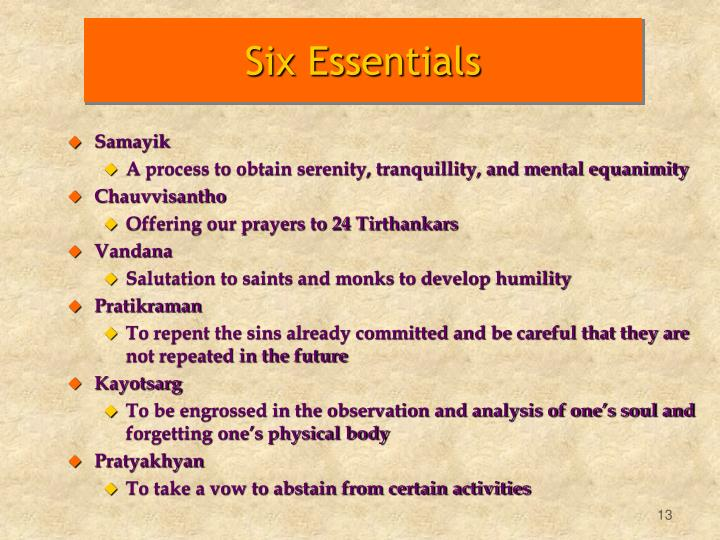 Six Essentials