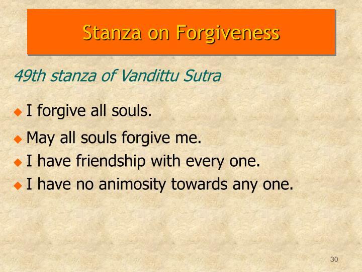 Stanza on Forgiveness