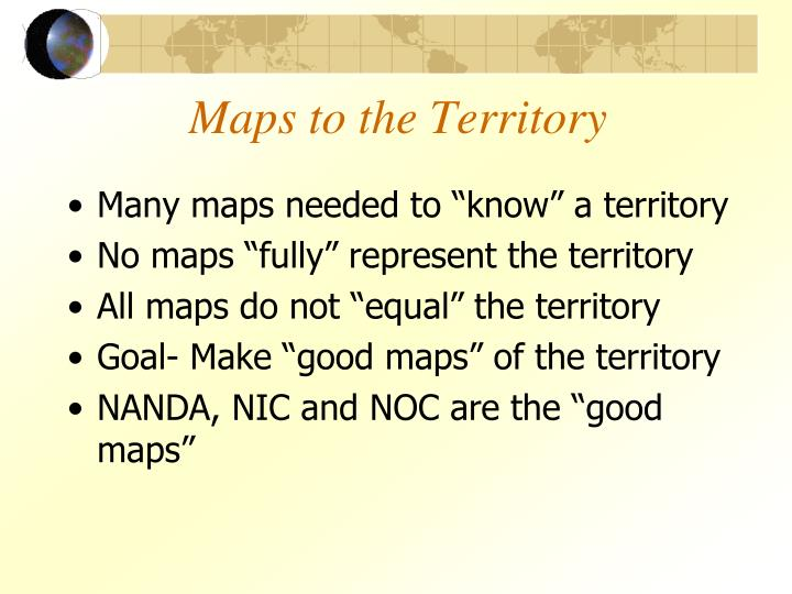 Maps to the Territory