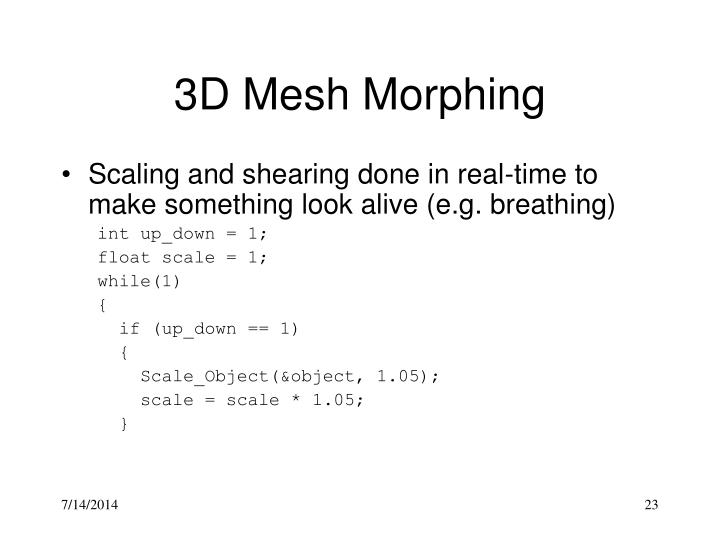 3D Mesh Morphing