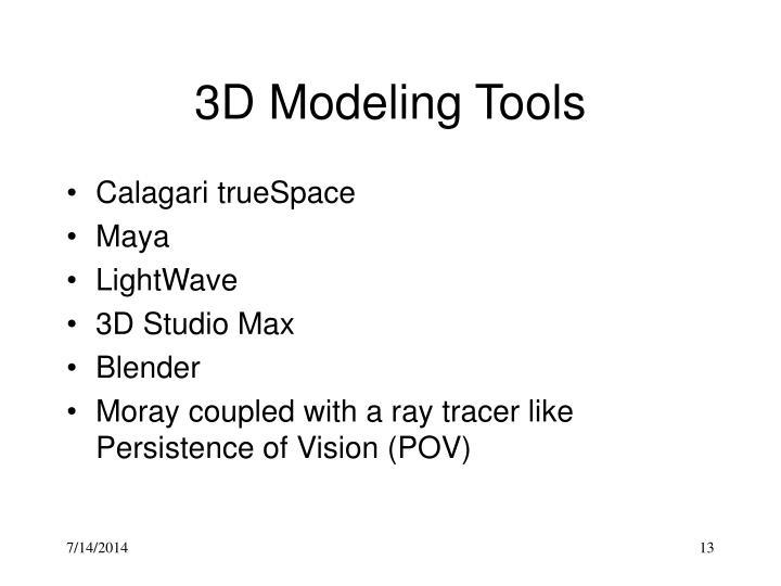 3D Modeling Tools