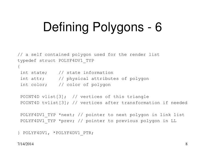 Defining Polygons - 6