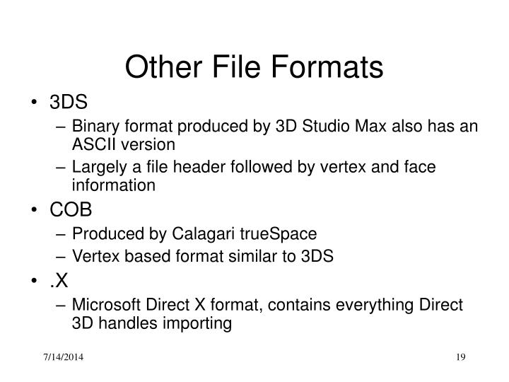 Other File Formats