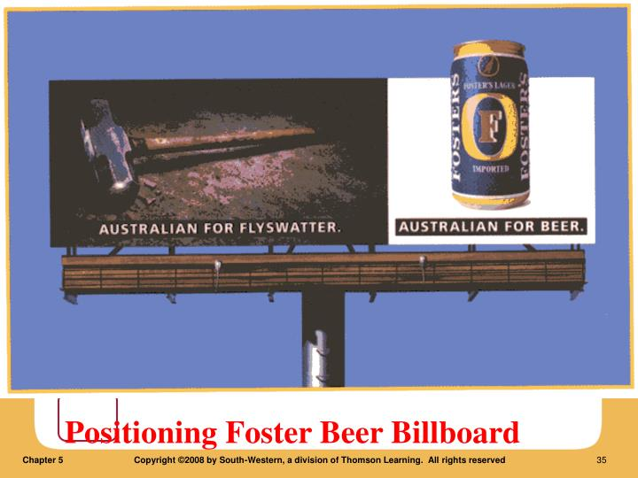 Positioning Foster Beer Billboard