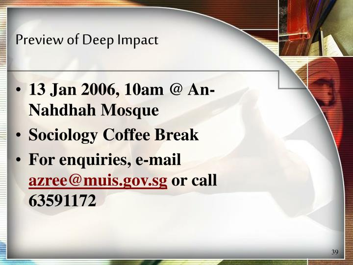 Preview of Deep Impact