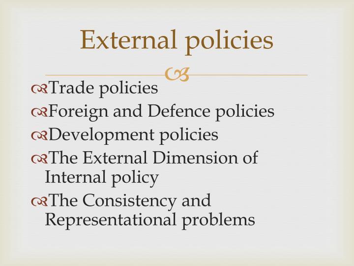 External policies