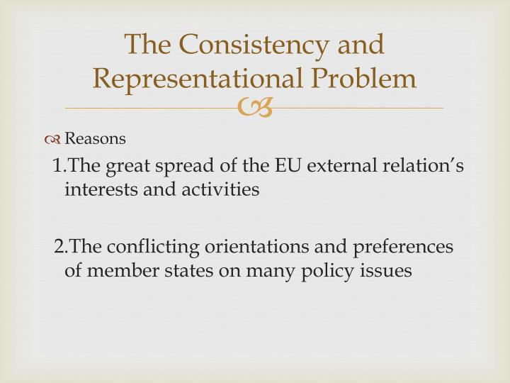 The Consistency and Representational Problem