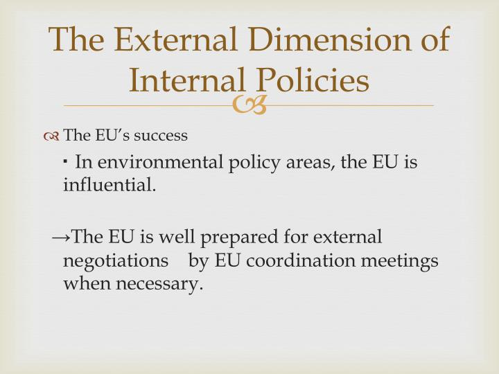 The External Dimension of Internal Policies
