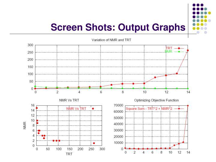 Screen Shots: Output Graphs