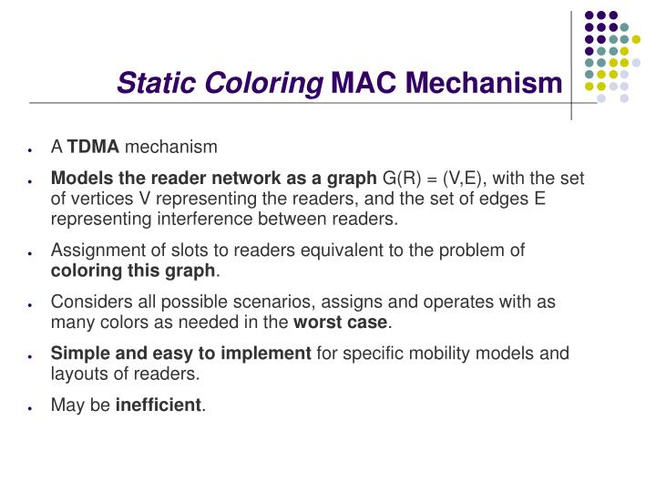 Static Coloring