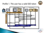 profile 1 the user has a valid sso token