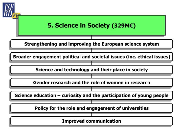 5. Science in Society