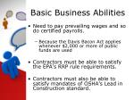 basic business abilities