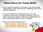 some more on trade skills