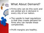 what about demand