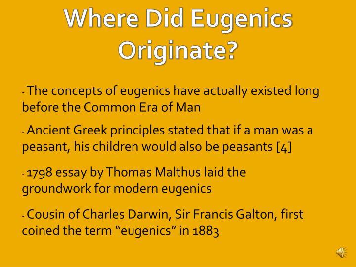 Argumentative essay on eugenics