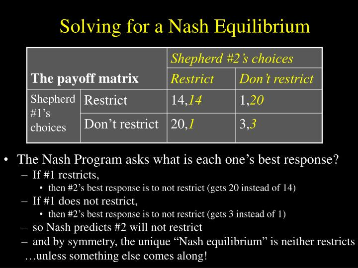Solving for a Nash Equilibrium