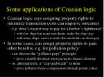 some applications of coasian logic