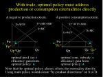with trade optimal policy must address production or consumption externalities directly