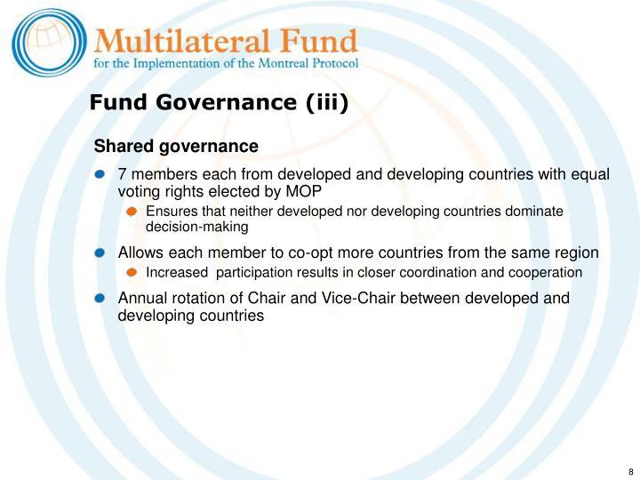 Fund Governance (iii)