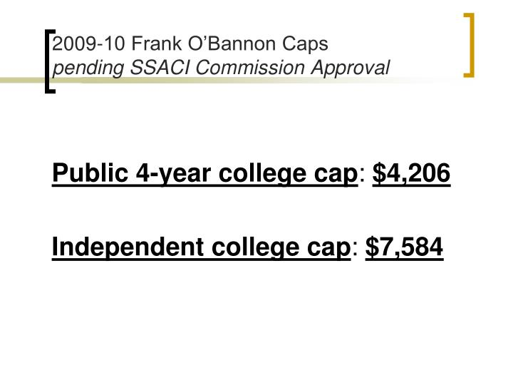 2009-10 Frank O'Bannon Caps