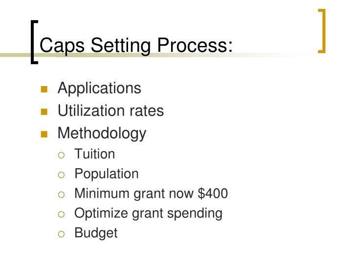 Caps setting process