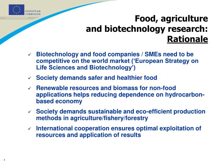 Food, agriculture