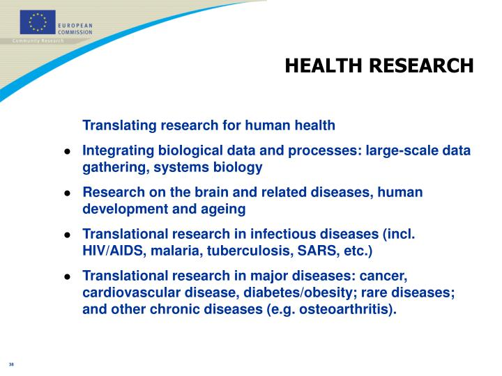 HEALTH RESEARCH