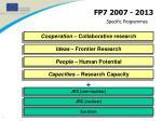 specific programmes